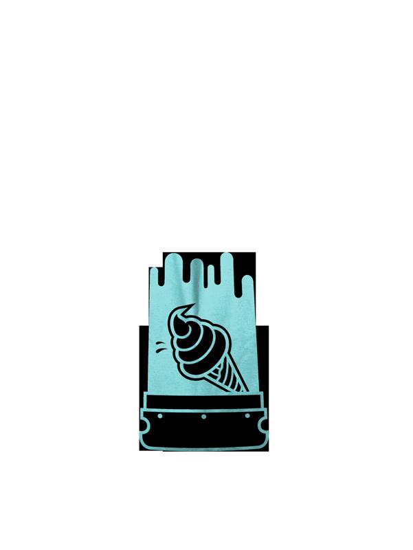 Håndtrykt logo på mulepose - Ice Screen Printing