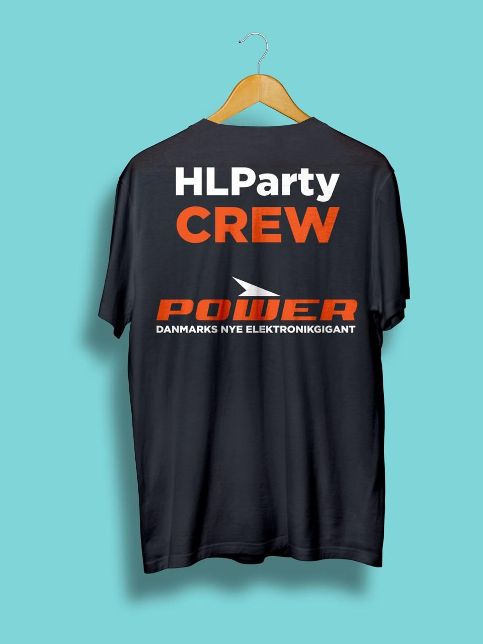 Power tshirt med HLParty Crew og Logo print